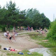 Пляж на озере Парка культуры и отдыха первой очереди