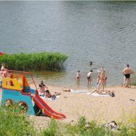 Пляж на озере Силикатное