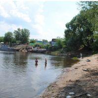 Пляж на реке Ока