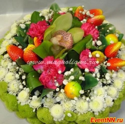 торт из цветов фото: