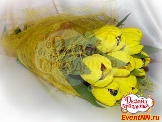 Оформление букета из конфет, доставка цветов в саратове безналично
