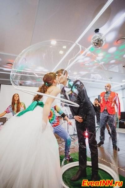 Шоу мыльных пузырей от праздничного агентства «Смайл»
