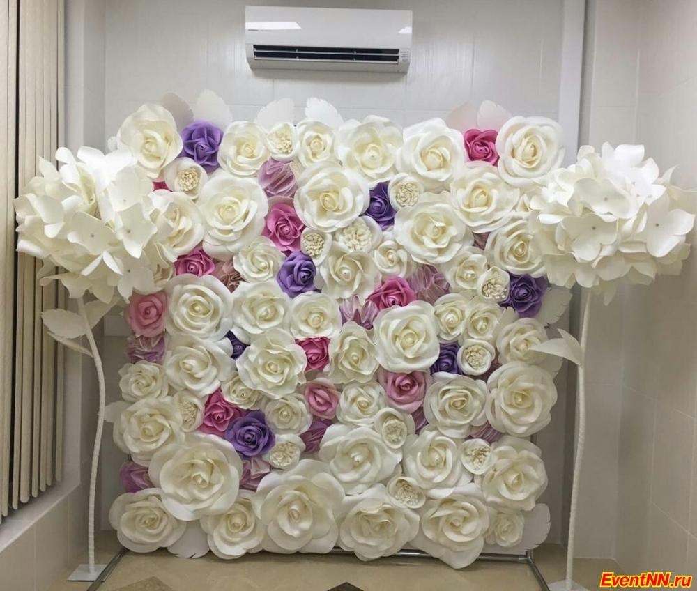 Фотозона от компании Большие цветы