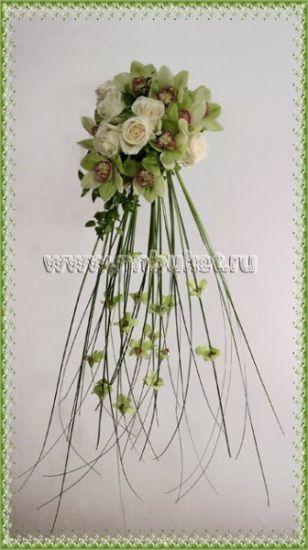 Свадебный букет с орхидеями как сделать