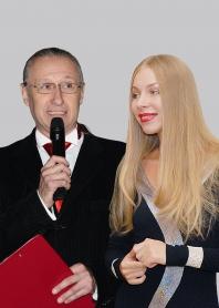 Ведущие Юрий Григорьев и Мария Кузина