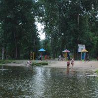 Пляж на озере у больницы № 39