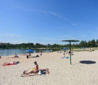 Пляж на озере Пестичное